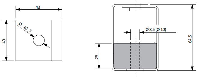 Конструкция крепления Vibrofix Box для виброизоляции