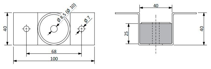 Конструкция крепления Vibrofix Techno для звукоизоляции
