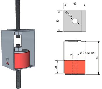 Монтаж креплений Vibrofix Box для виброизоляции